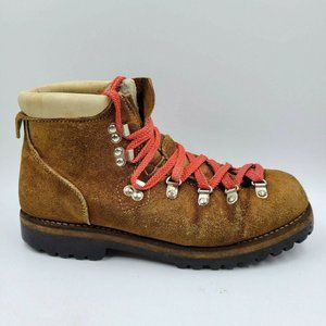 Vintage Montblanc Brown Fleece Lined Hiking Boots